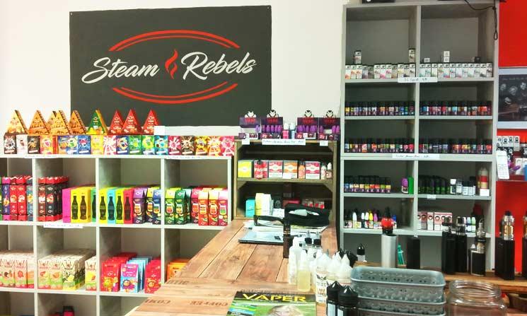 E-Liquids und Aromen - große Auswahl bei den Steam Rebels in Gilching